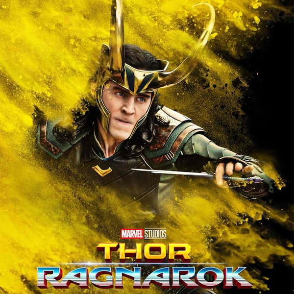 Tom Hiddleston Thor: Ragnarok