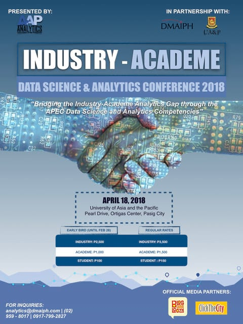 Industry Academe Analytics Conference 2018