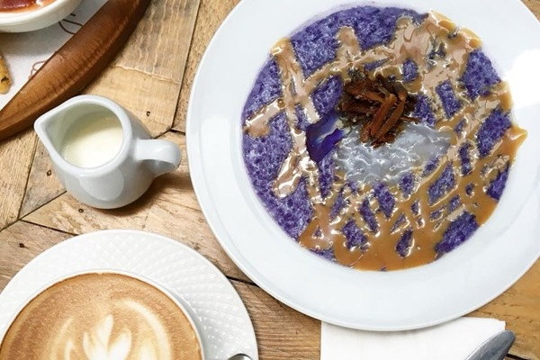 Flossom Kitchen + Cafe Ube Champorado San Juan