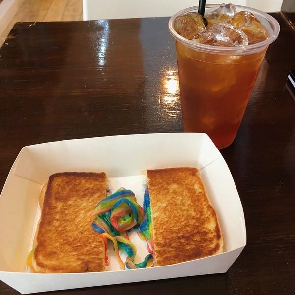 Sebastian's Ice Cream Rainbow Grilled Cheese Sandwich