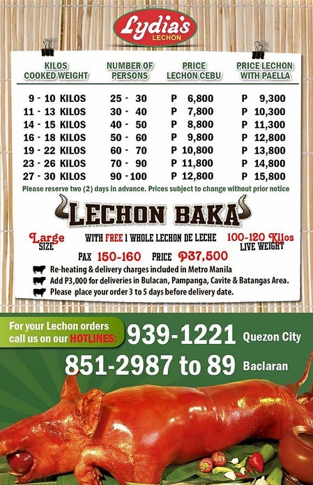 Your Ultimate Guide to Ordering Lechon in Manila – 2014