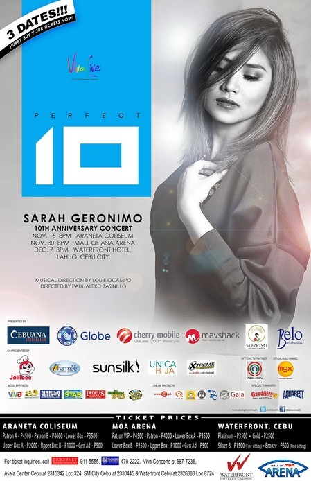Sarah Geronimo: Perfect 10   ClickTheCity Events