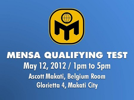 MENSA Qualifying Test | ClickTheCity Events