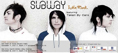 Indie Rock Concerts in Manila with French Band Subway | ClickTheCity