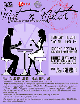 meet and match speed dating