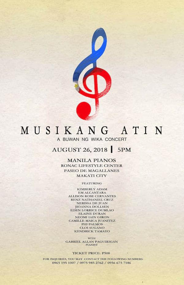 Musikang Atin: A Buwan Ng Wika Concert | ClickTheCity Events