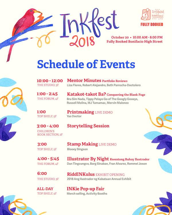 Inkfest 2018 Schedule