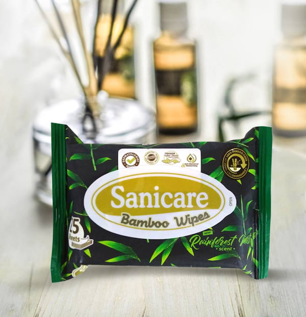 Sanicare Natural Bamboo Wipes