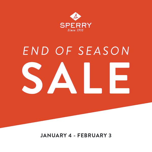 Sperry end of Season Sale