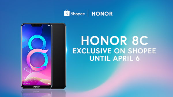 Honor 8C exclusive to Shopee