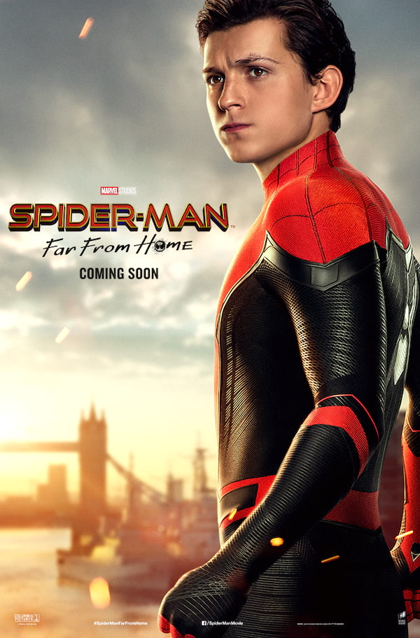 spider man far from home reveals character posters clickthecity movies. Black Bedroom Furniture Sets. Home Design Ideas