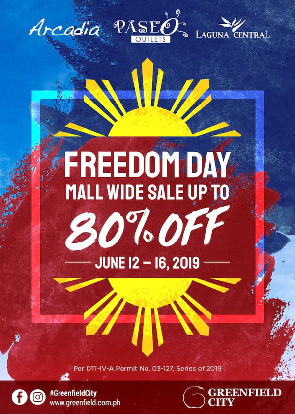 Greenfield City's Independence Day Weekend Sale