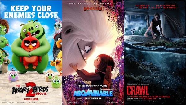 Animals Rule in 'Angry Birds 2,' 'Crawl,' and 'Abomimable