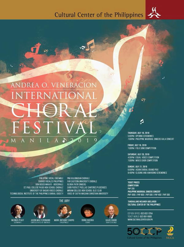 The 4th Andrea O  Veneracion International Choral Festival is Set To