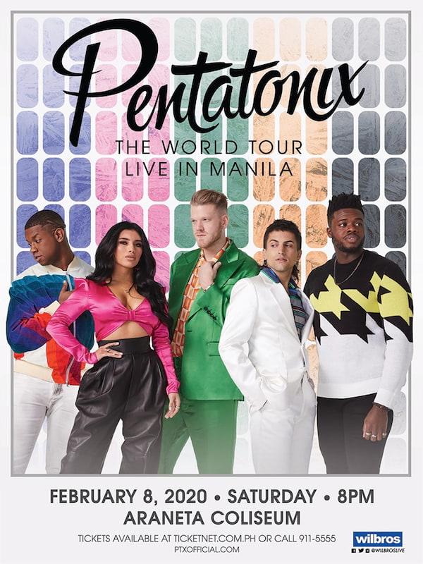 Ptx Tour 2020 Pentatonix: The World Tour is Coming to Manila February 2020