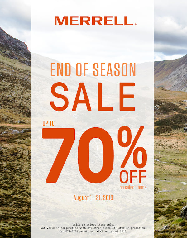 Merell End Of Season Sale