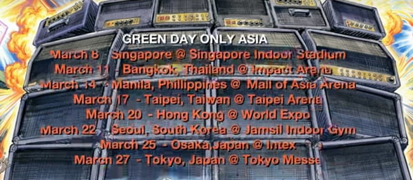 Green Day Tour 2020.Green Day Is Having A Concert In Manila On 2020