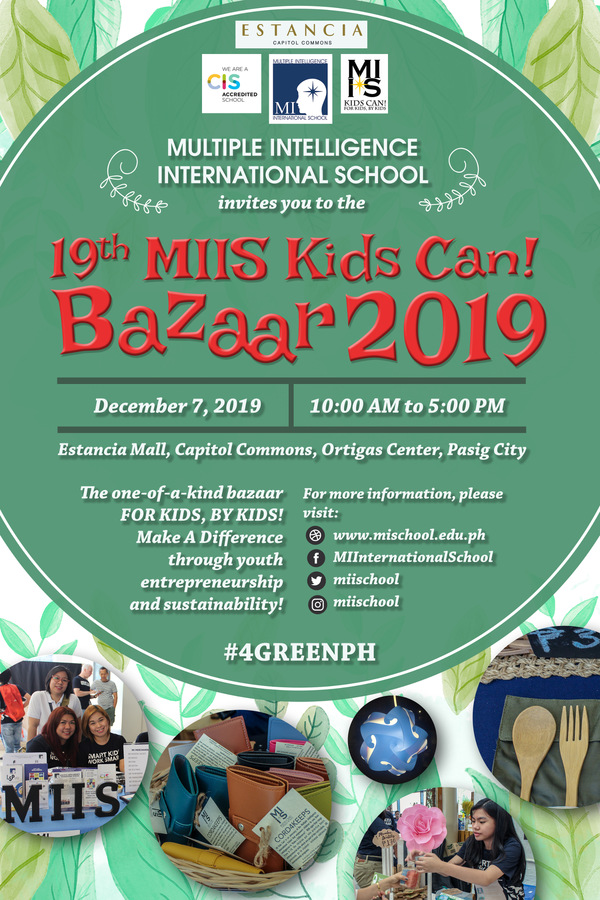 19th MIIS Kids Can! Bazaar 2019