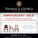 Thomas & George Furniture Anniversary Sale