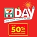 Thursday is 7-11 Day with 50% Off at All 7-Eleven Stores!