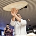 Pizza acrobat, Chef Pasqualino Barbasso, performs at Marco Polo Hotel's 5th Anniversary