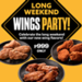 Have A Yellow Cab Wings Party This Long Weekend!
