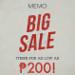 Memo Big Sale