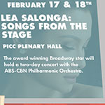 Lea Salonga: Songs from the Stage