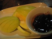 Gerry's Grill: Green Mango with Bagoong