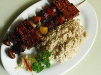 Grilled Mushroom and Tofu Kebabs