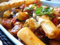 Baked Rigatoni with Sausage and Eggplant