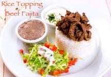 Beef Fajita Rice Topping