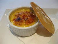 Passion fruit and banana crème brulee