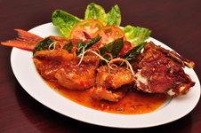 Pla Rad Prik - Crisp Fried Whole Boneless Lapu Lapu with Sweet Chili Sauce