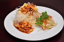 Mee Krob - Crispy Rice Noodles with Sweet Sour Shirmp and Tofu Sauce