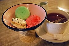 Assorted Macarons w/ Hot Tea