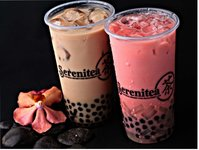 Pearl Milk Tean and Strawberry Milk Tea