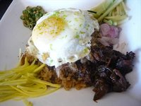 Nav's Bagoong Rice with Fixings of Khao Krok Kapi