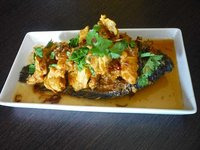 Whole Crispy Tilapia with Chili Spiked Tamarind Sauce