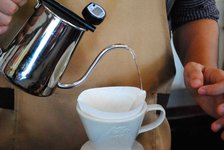 The pour over method