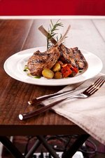 Grilled Lambchops with Ratatouille & Rosemary Potatoes