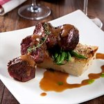 Hanging Tender Steak with Potato Gratin & Marsala