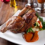 Roast Chicken with Spiced Red Bell Pepper Sauce