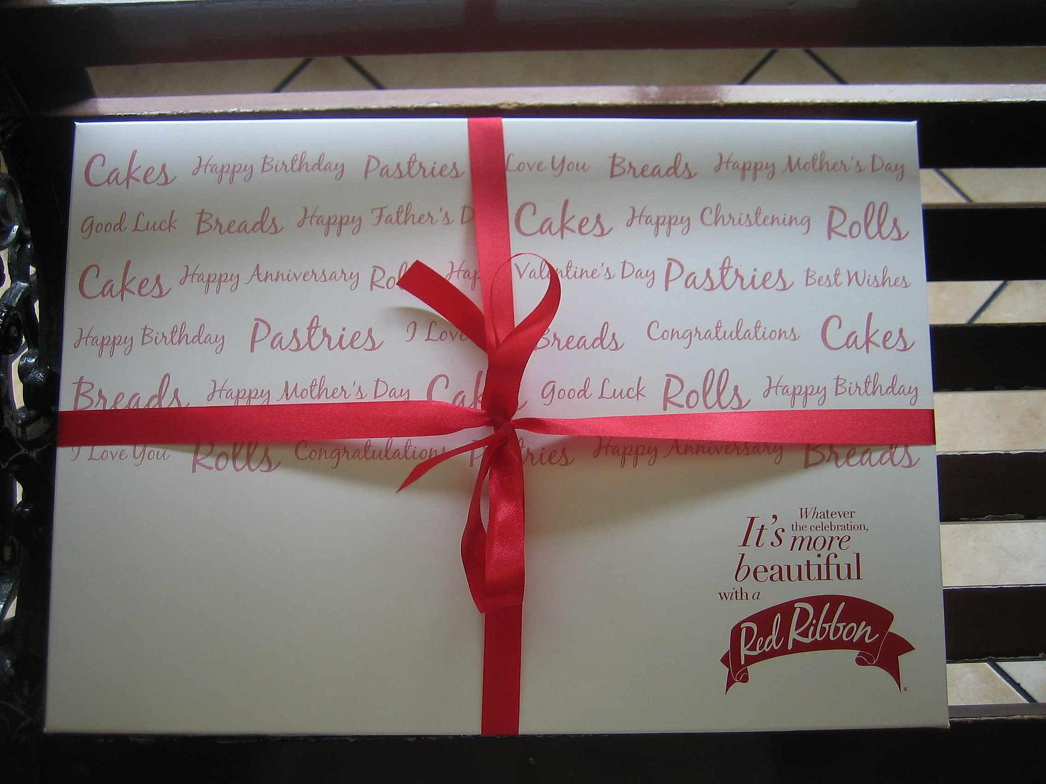 Red Ribbon Cubao Quezon City Metro Manila Cakes Pastries