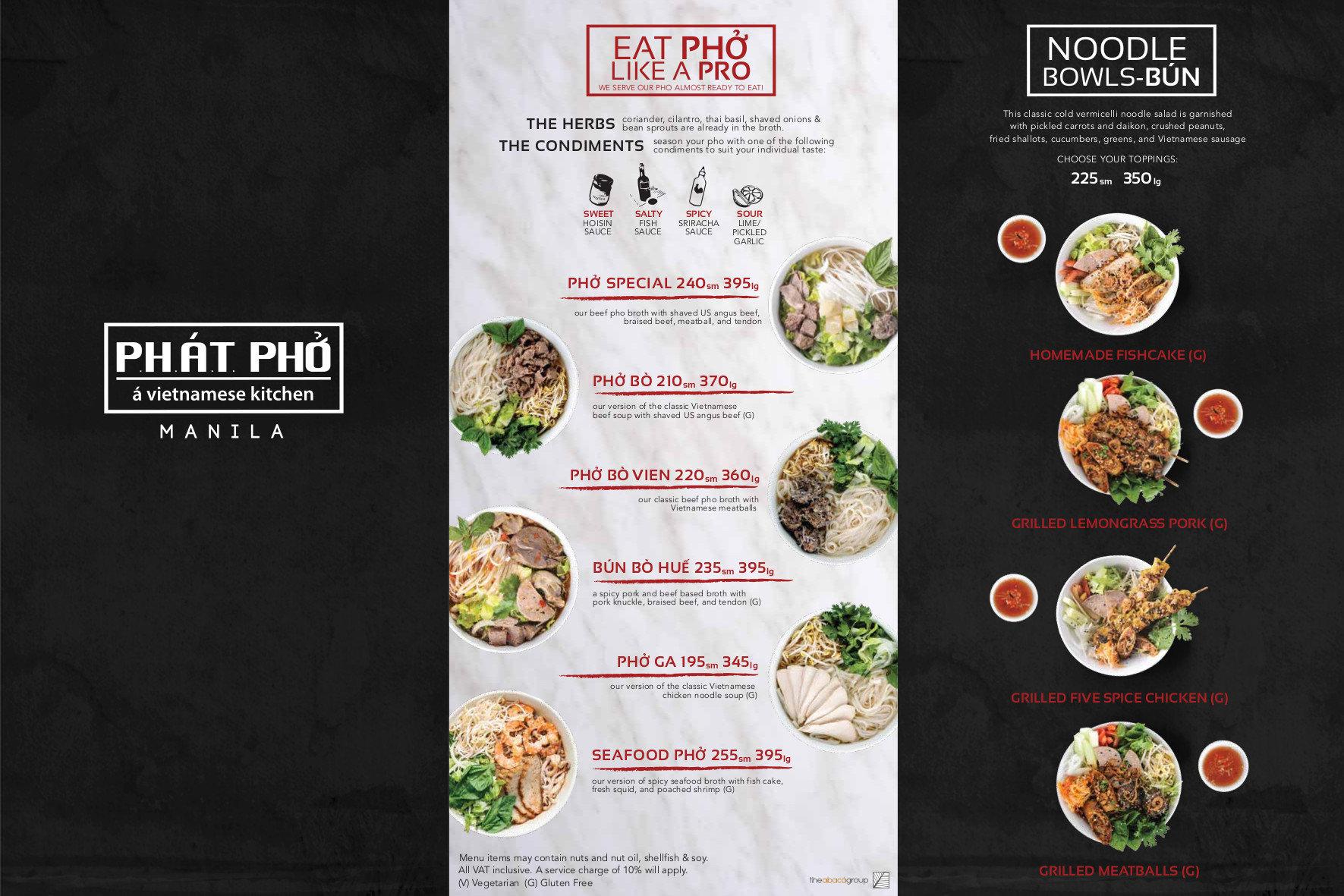 Phat Pho A Vietnamese Kitchen Menu Clickthecity Food Drink