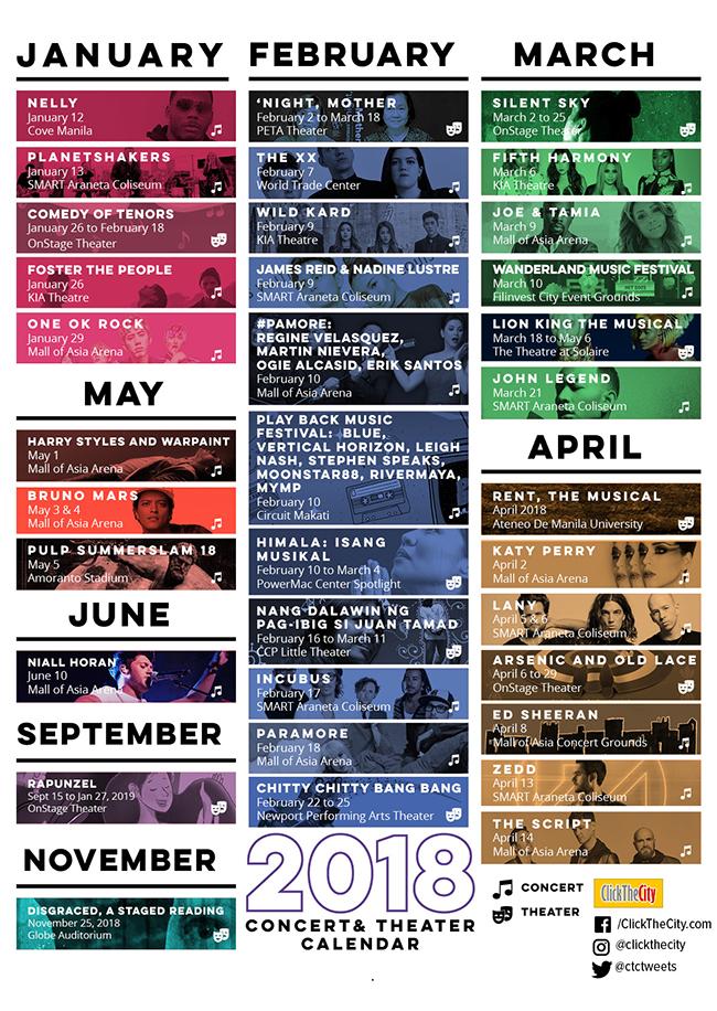 metro manila concert calendar 2017