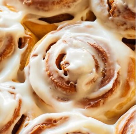 Bake This at Home: Cinnamon Rolls with Cream Cheese Frosting from Canva!