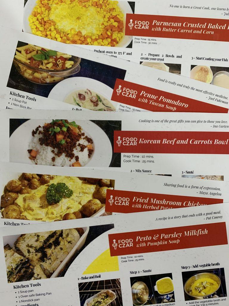 Food Czar Meal Kit Recipes