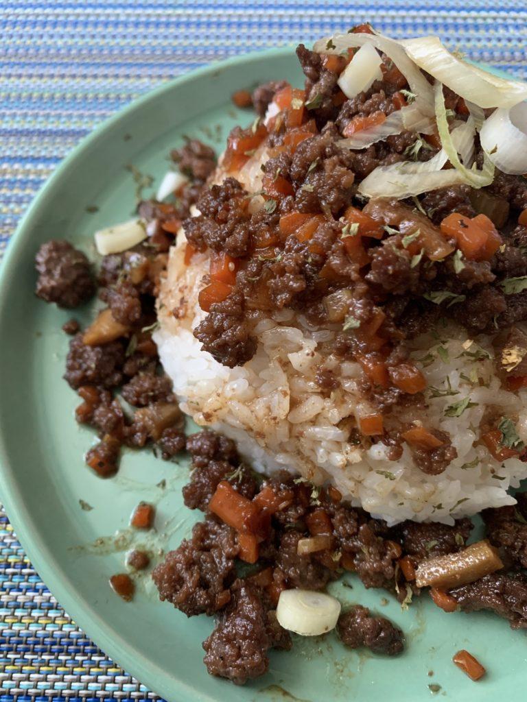 Food Czar's Korean Beef & Carrots rice topping