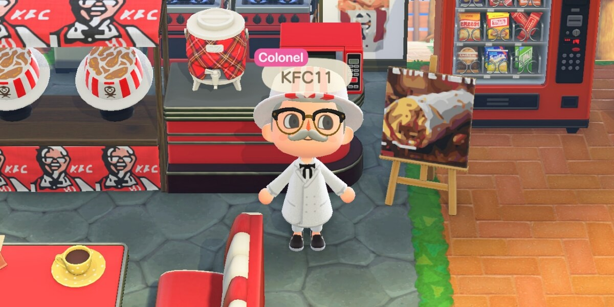 LOOK: Visit The Colonel at the KFC Island in Animal Crossing!